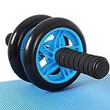 SONGMICS AB Roller Bauchtrainer AB Wheel für Fitness Bauchmuskeltraining Muskelaufbau Bauchroller...