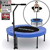Kinetic Sports 1.Platz auf Testbild Fitness Trampolin Indoor Ø 102 cm, höhenverstellbarer...