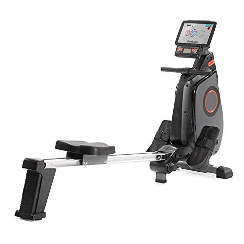 SportPlus Ruderergometer klappbar für zuhause - 24 Stufen & 6 Trainingsprogramme, leises...