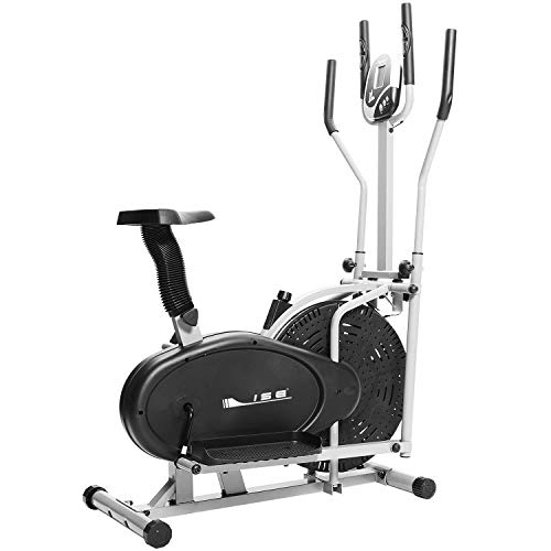 ISE Crosstrainer Fahrradtrainer Ellipsentrainer mit Rillenriemenantrieb widerstandverstellbar...