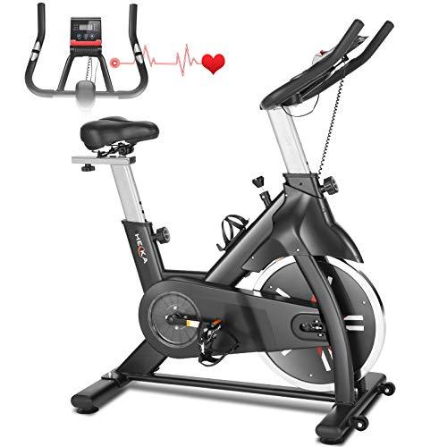Heka Heimtrainer Fahrrad für zu Hause, Indoor Cycling Bike, Fitnessbike Mit Herzfrequenzmonitor,...