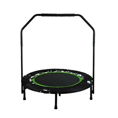 ANCHEER Fitness-Trampolin, Indoor/Outdoor, leise Gummiseilfederung, Höhenverstellbarer Haltegriff,...