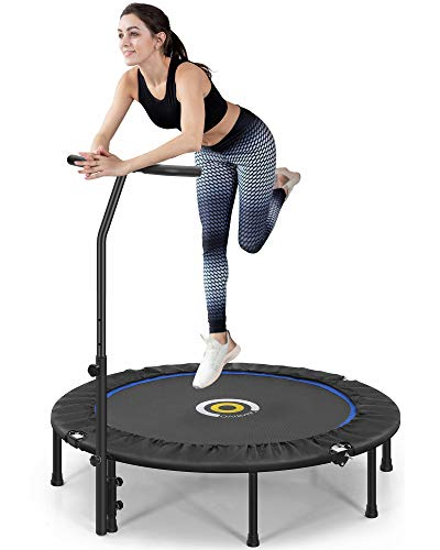 CAMBIVO Trampolin Indoor, Fitness Trampolin 127cm, faltbar Trampolin Rebounder mit...