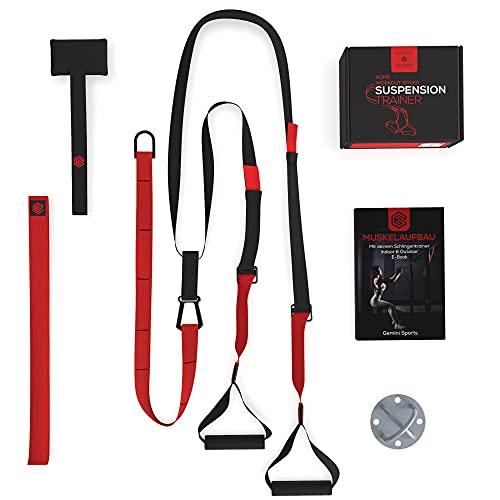 Gemini Sports Schlingentrainer - Sling Trainer Set inklusive E-Book, Wandhalterung und Türanker -...