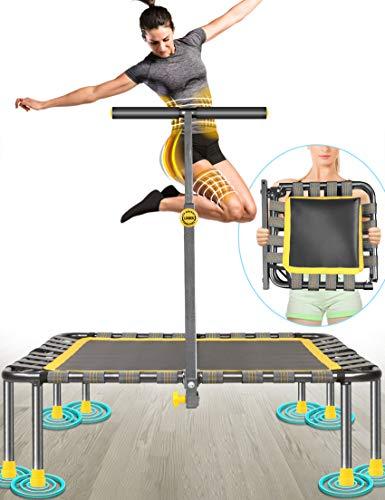 Fitness Trampolin Max. Laden Sie 220lbs Einfache Installation Klappbar Mini Trampoline für Kinder...