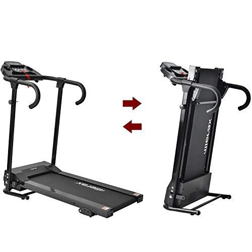 Merax Laufband Klappbar Elektrisches Laufbander Fitnessgeräte Verstaubar Kompakt mit LCD-Display...