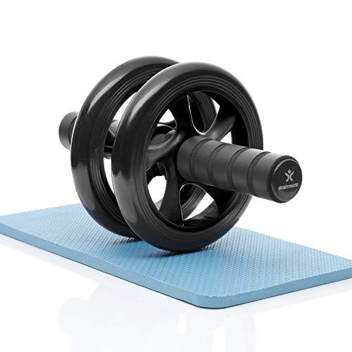 BODYMATE AB Roller Classic, Bauchtrainer zur Stärkung der Core-Muskulatur, Fitnessgerät für...