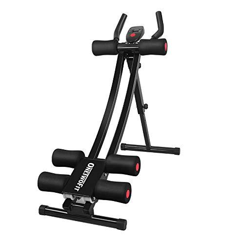 ONETWOFIT Bauchtrainer   Bauchmuskeltrainer klappbar für Zuhause   gezieltes Bauchmuskeltraining...