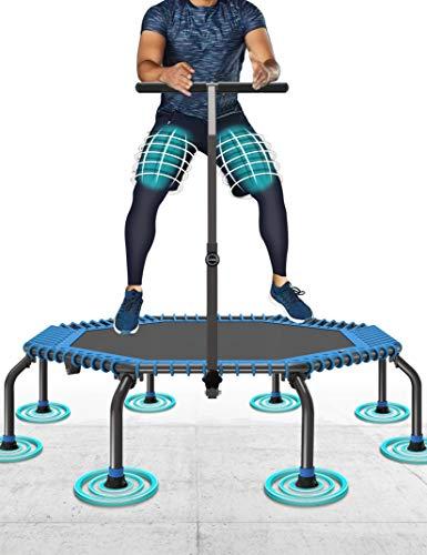 50' Fitness Trampolin Max. Laden Sie 250lbs Einfache Installation Klappbar Mini Trampoline für...