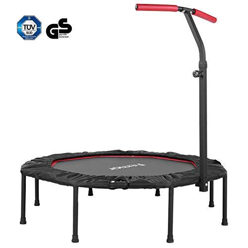 femor Fitness-Trampolin, Trampolin faltbar, Ø127cm, 5-Fach höhenverstellbarer Haltegriff Jumping...