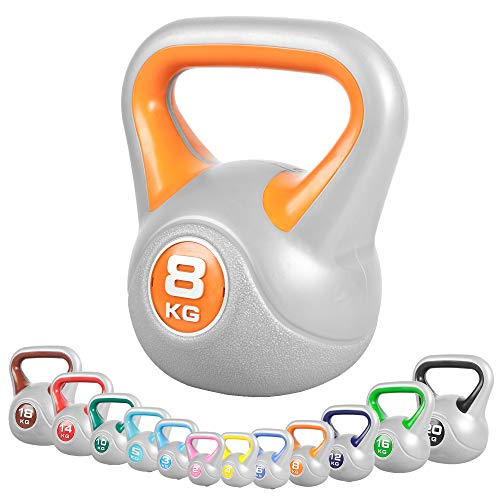 GORILLA SPORTS® Kettlebell - 2kg, 3kg, 4kg, 5kg, 6kg, 8kg, 10kg, 12kg, 14kg, 16kg, 18kg, 20kg...