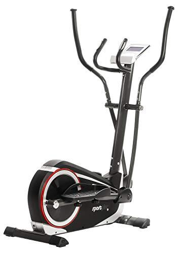 SportPlus Crosstrainer für zuhause - 24 Stufen & 24 Trainingsprogramme, Ergometer mit App Steuerung...