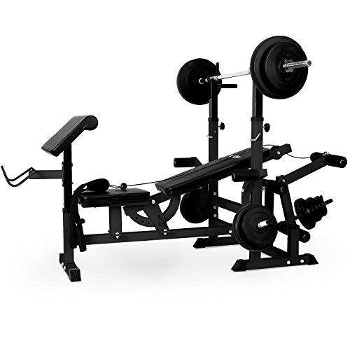 Klarfit Workout Hero 300 - Kraftstation, Fitnessstation, Trainingsstation, Bankdrücken, Kabelzug,...
