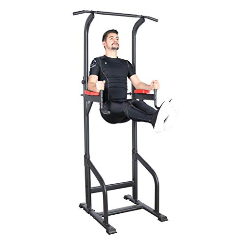 Ultrasport Unisex Power Tower Kraftstation für ein vielseitiges Training Zuhause, Gymtower, Dip...