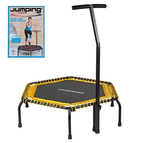Ultrasport Fitness Trampolin,Ø ca.120cm, 5-fach höhenverstellbarer Haltegriff,sehr leise...