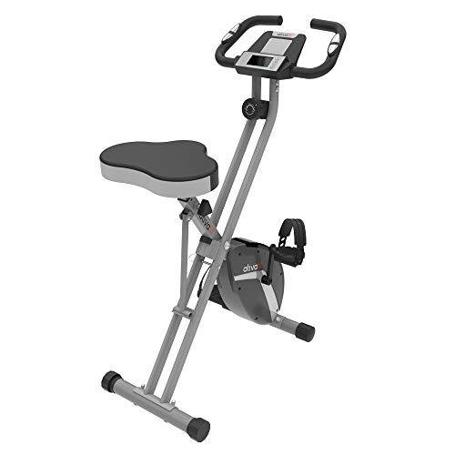 ATIVAFIT Ativaift Heimtrainer X- Bike mit großem Sitz, klappbares Fitnessbike, Fitnessfahrrad,...