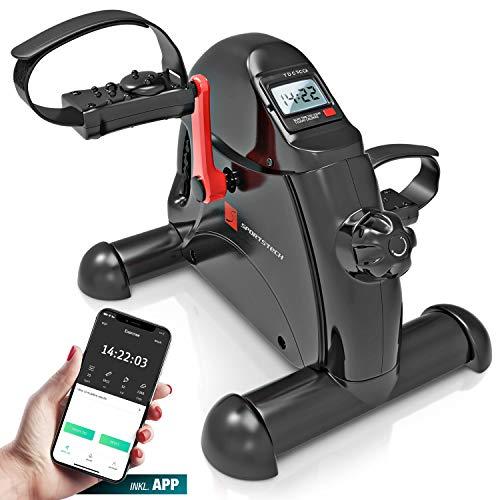 Sportstech Mini-Heimtrainer, Mini-Bike + Fitness-App| Beintrainer + Armtrainer für Senioren |...