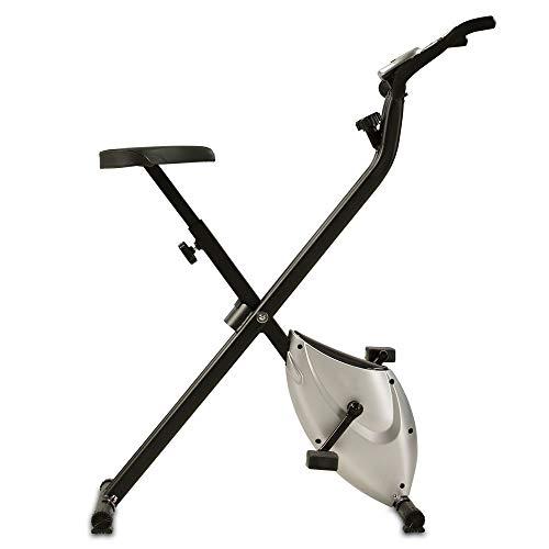 maxVitalis Heimtrainer X-Bike aktiv Fitnessbike F-Bike Fitnessgerät faltbar Handpulsmessung 2,5 kg...