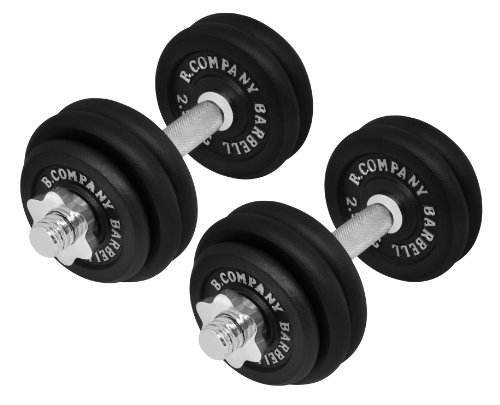 Bad Company | 2er Set Kurzhanteln Gusseisen 30kg (2 x 15 kg) | Professionelles Equipment für...