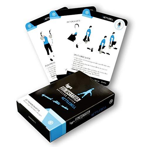 figgrs Trainingskarten Kettlebell I 50 Fitness Übungen für dynamisches Ganzkörpertraining I Sport...