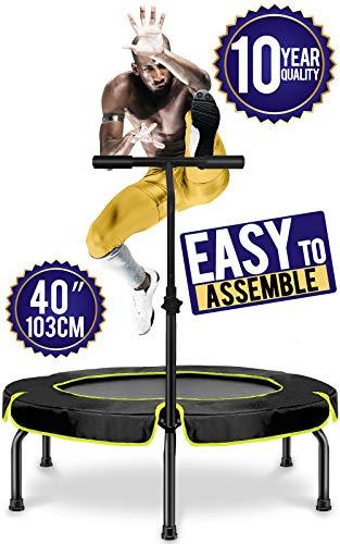 Happy Jump Fitness Trampolin,Ø ca 101 cm, Jumping Fitness Trampolin mit höhenverstellbarer...