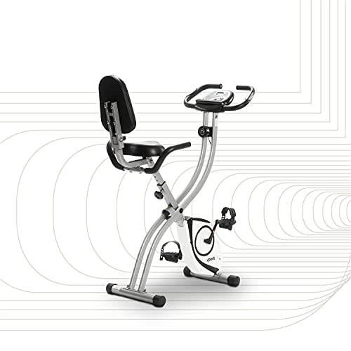 SportPlus Heimtrainer klappbar mit Rückenlehne - 8 Widerstandsstufen, leises Magnetbremssystem,...