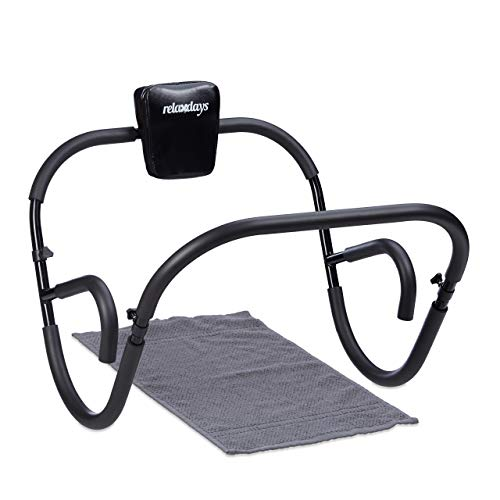 Relaxdays Bauchtrainer AB Roller, Bauchmuskeltrainer, faltbar, HxBxT: 66 x 70 x 70 cm, Sixpack...