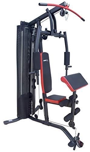 SportPlus Kraftstation, multifunktionale Fitnessstation inkl. Gewichte für effektives...