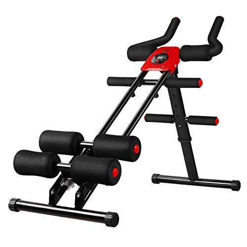 femor Bauchtrainer, Profi AB Trainer, Bauchmuskeltrainer mit Knieauflage, klappbares Fitnessgerät...