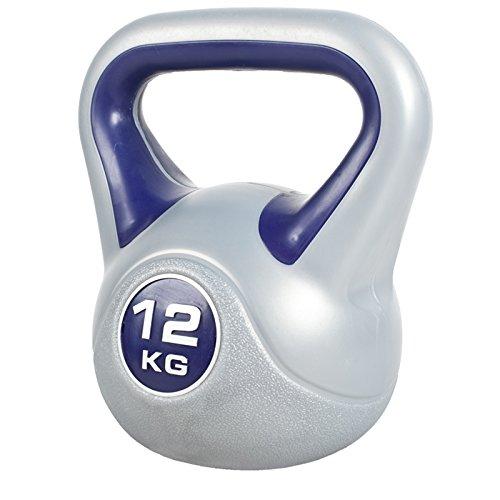 GORILLA SPORTS Kettlebell Stylish 2-20 kg Kunststoff Einzeln/Set – Fitness-Kugelhantel 12 kg...