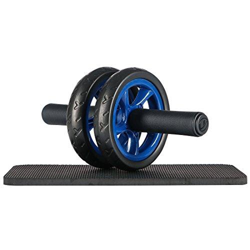 Ultrasport Bauchtrainer AB Wheel, AB Roller, AB Bauchroller, platzsparender Bauchmuskeltrainer für...