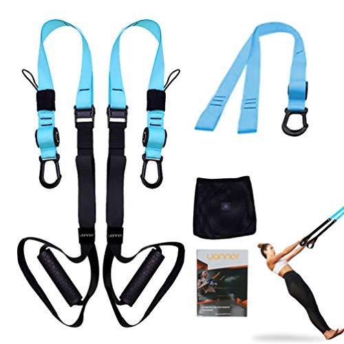 UONNER Suspension System Training Kit Suspension Straps Workout Adjustable Training Straps with Door...