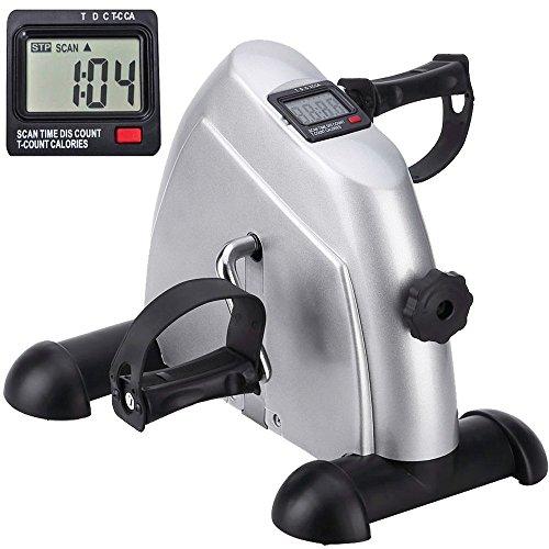 Minibike Heimtrainer Bewegungstrainer Pedaltrainer Trainingsgerät Fitnessgerät mit LCD-Monitor...