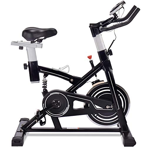 ERGO LIFE Indoor Fitness Bike, Cycling Bike Stationäres Heimtrainer für das Cardio-Training zu...