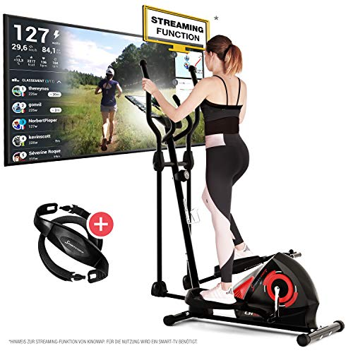 Sportstech CX608 Crosstrainer - Deutsche Qualitätsmarke - Video Events & Multiplayer APP &...