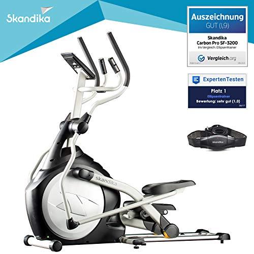 skandika Crosstrainer CardioCross Carbon Pro SF-3200, 23,5 kg Schwungmasse, wartungsarmes Bremssytem...