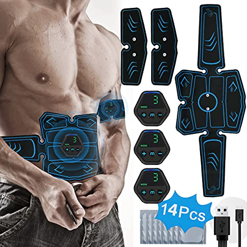 PHANXY EMS Trainingsgerät Muskelstimulation Elektrostimulation Elektrische Bauchmuskeltrainer für...