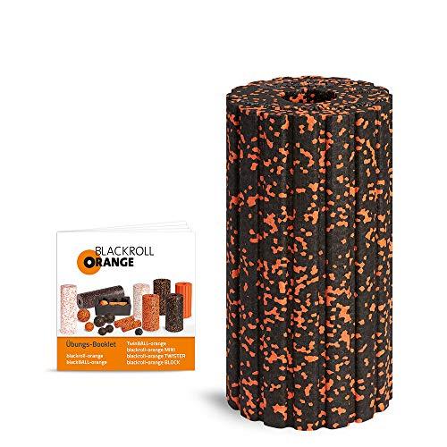 Blackroll Orange Groove Faszienrolle - Faszien Massagerolle mit Rillen (Aufrüstbar mit Vibration)...