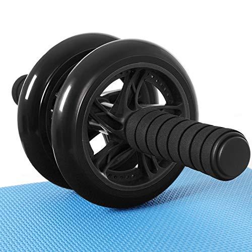 SONGMICS Bauchroller, AB Roller Bauchtrainer, AB Wheel für Fitness, mit rutschfester, gut...