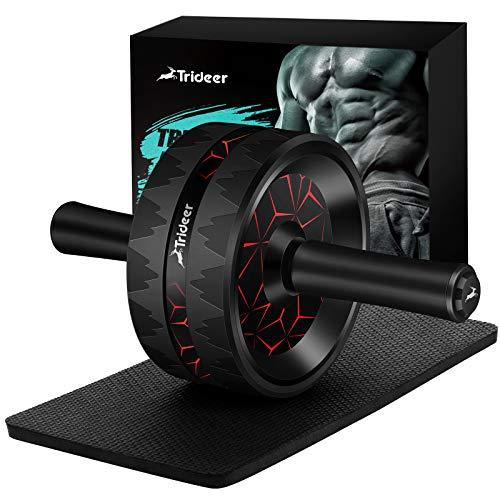 Trideer bauchtrainer ab Roller, Bauchroller, bauchmuskeltrainer ab Wheel Set, mit Rutschfester,...