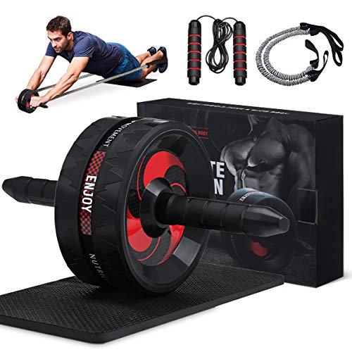gracosy Bauchroller AB Roller Bauchmuskeltrainer Fitness Geräte AB Wheel mit rutschfeste Griffe...