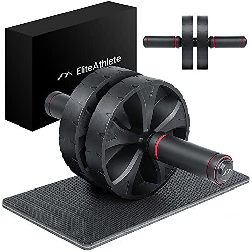 EliteAthlete AB Roller Bauchtrainer - Bauchmuskeltrainer - AB Wheel - Bauchroller - Bauch Weg...