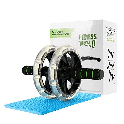 BINKE Abdominal Roller,Belly Roller Premium Bauchtrainer, AB Roller Bauch Trainer mit Knieschoner...