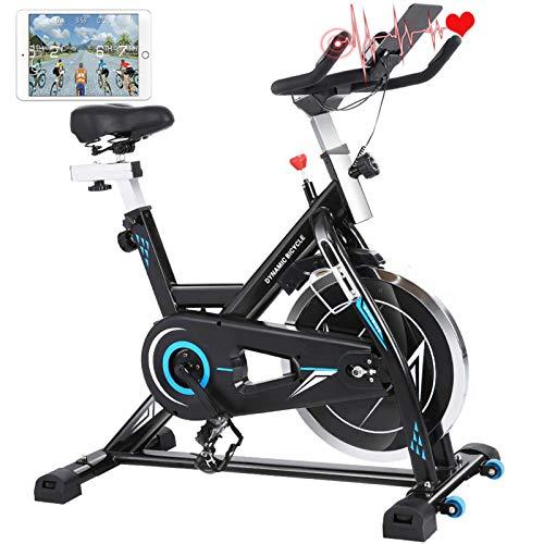 ANCHEER Heimtrainer Hometrainer Fahrrad Indoor Cycling Fitnessbikes, Verstellbarem Sitzkissen, 22KG...