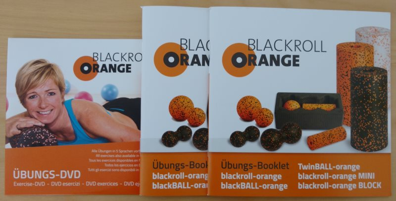 Blackroll-Orange Übungs-Booklet und DVD